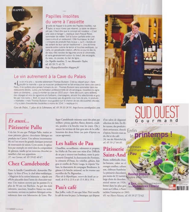 Sud Ouest Gourmand Mars 2014