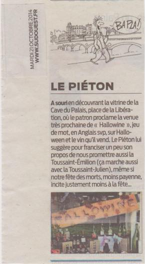 2014 Oct Su Ouest Pieton Hallowine